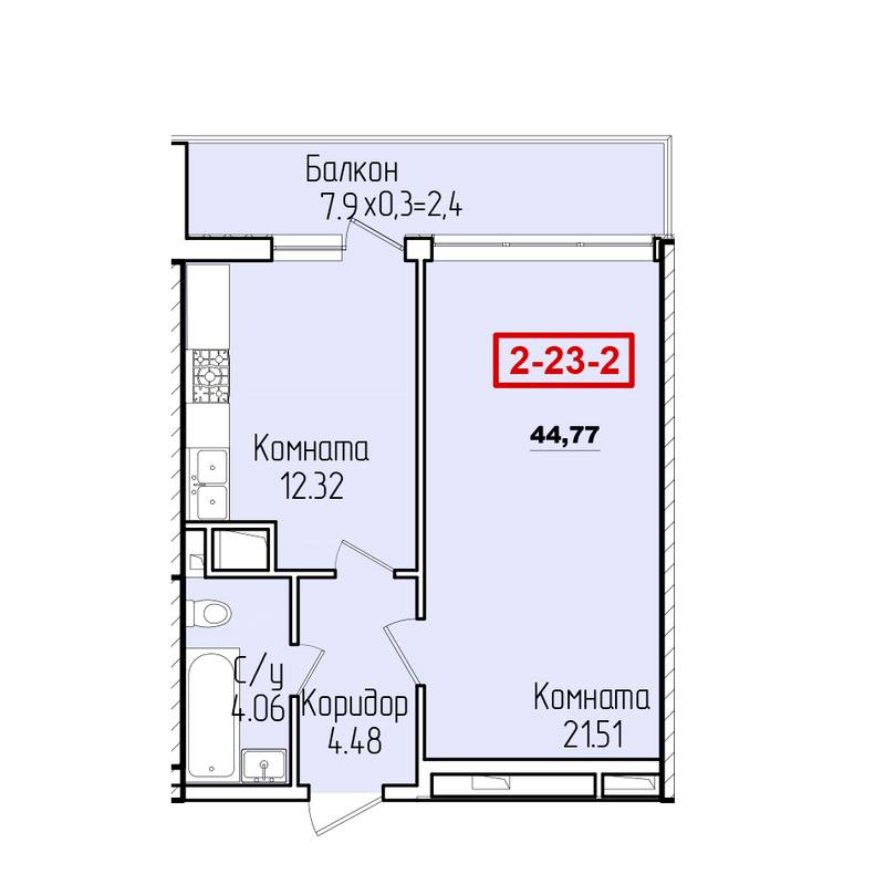 1-комнатная квартира с террасой в 51 Жемчужине
