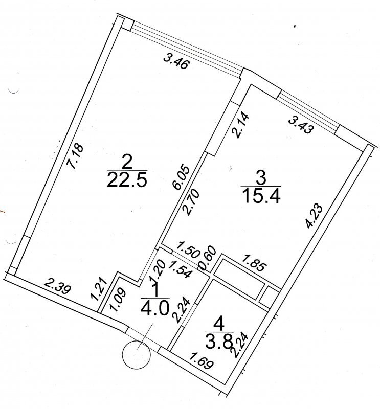 1 комнатная квартира в 42 Жемчужине/ Аркадия
