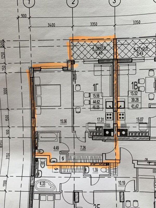1 комнатная квартира в ЖК Дерби на Фонтане