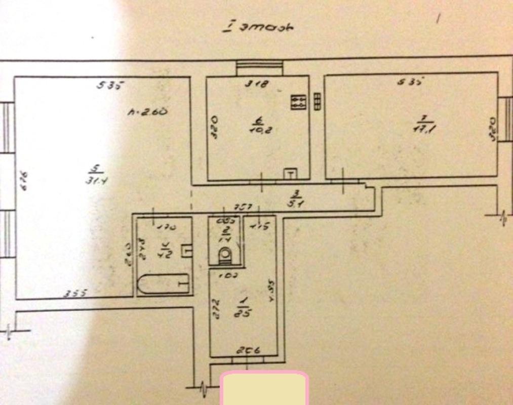 3 комнатная квартира от Стикон на Нищинского