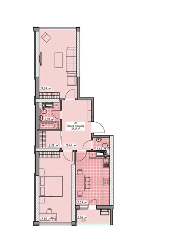 2 комнатная квартира в ЖК Элегия Парк