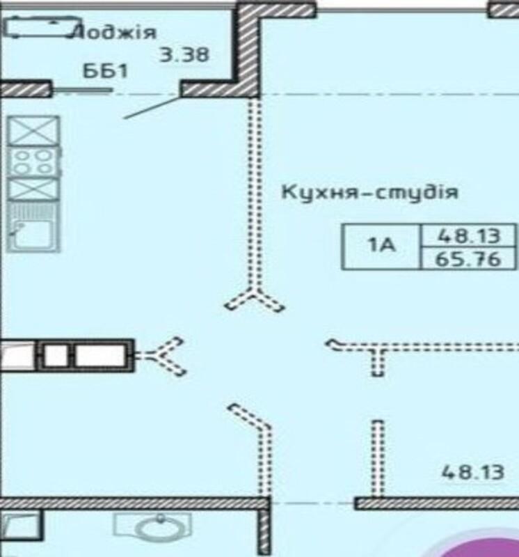 1-комнатная квартира в ЖК Олимпийский