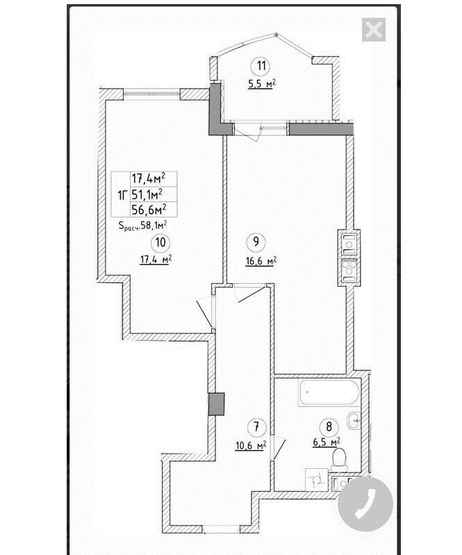 Квартира с видом на море в ЖК Аквамарин