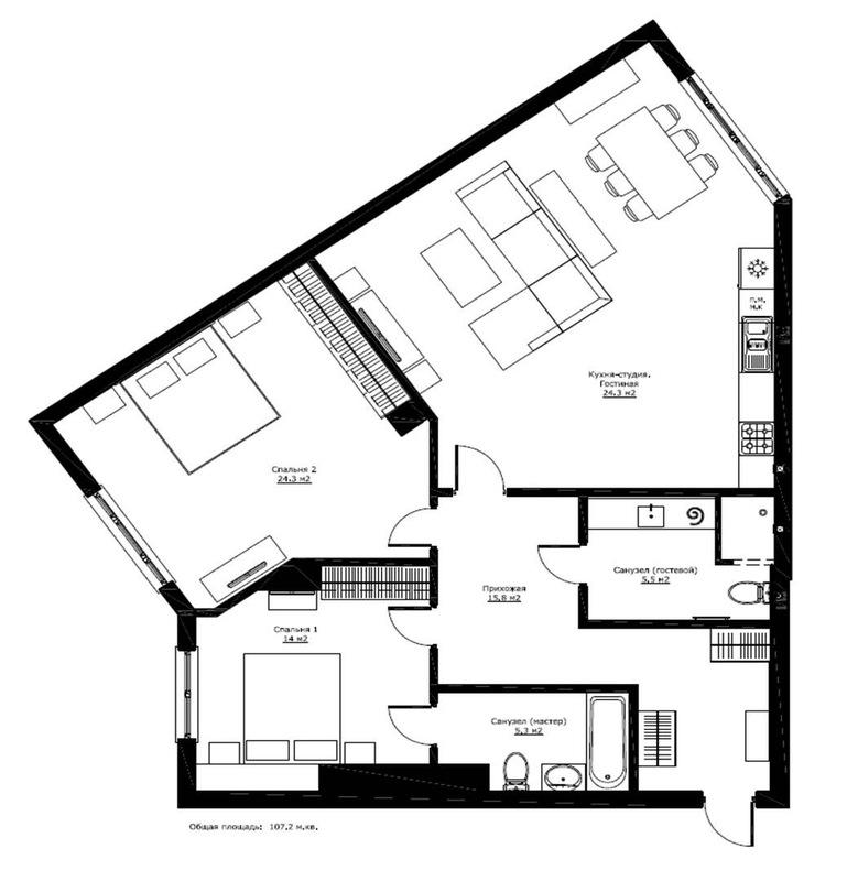 3 комнатная квартира проспекте Шевченко/ Климовский
