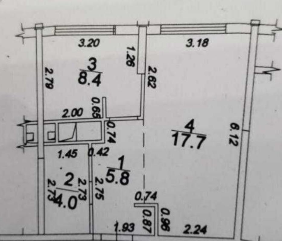 1-комнатная квартира в Аркадии на Каманина
