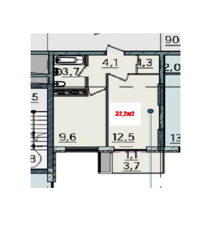 1-комнатная квартира в ЖК Пространство на Тульской