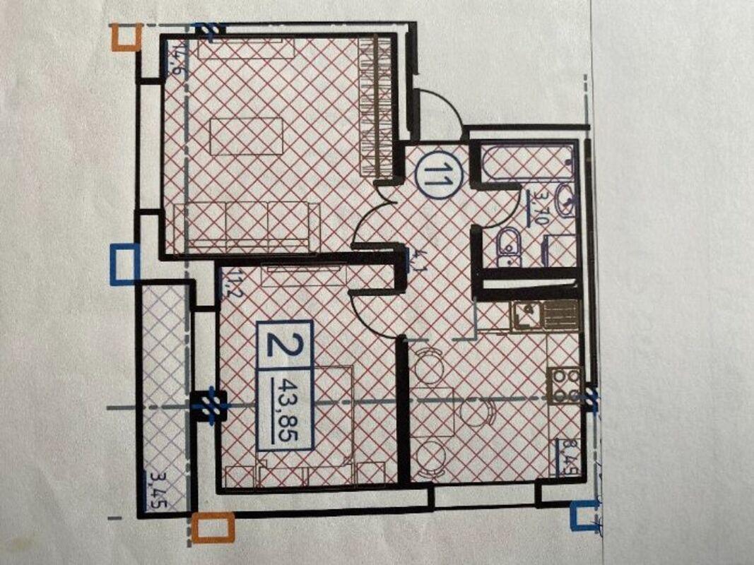 2-комнатная квартира в ЖК Пространство на Гераневой