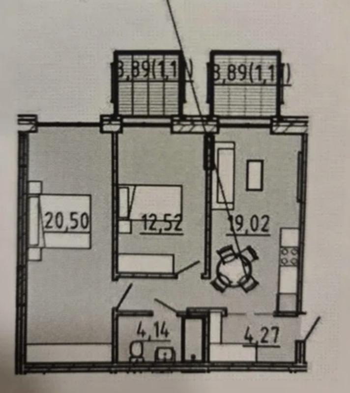 Двухкомнатная квартира от Пространства на Литературной