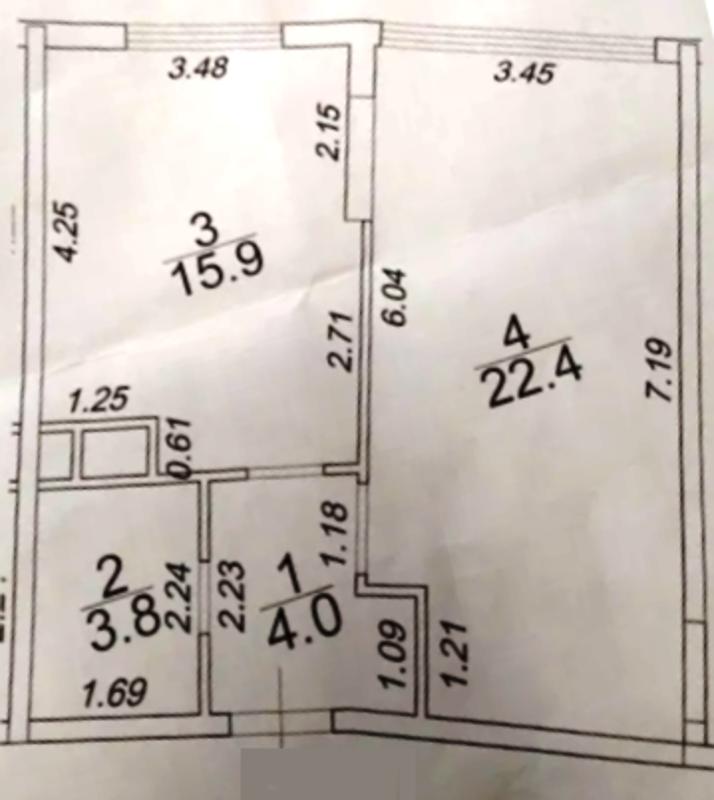 1 комнатная квартира в ЖК 42 жемчужина.