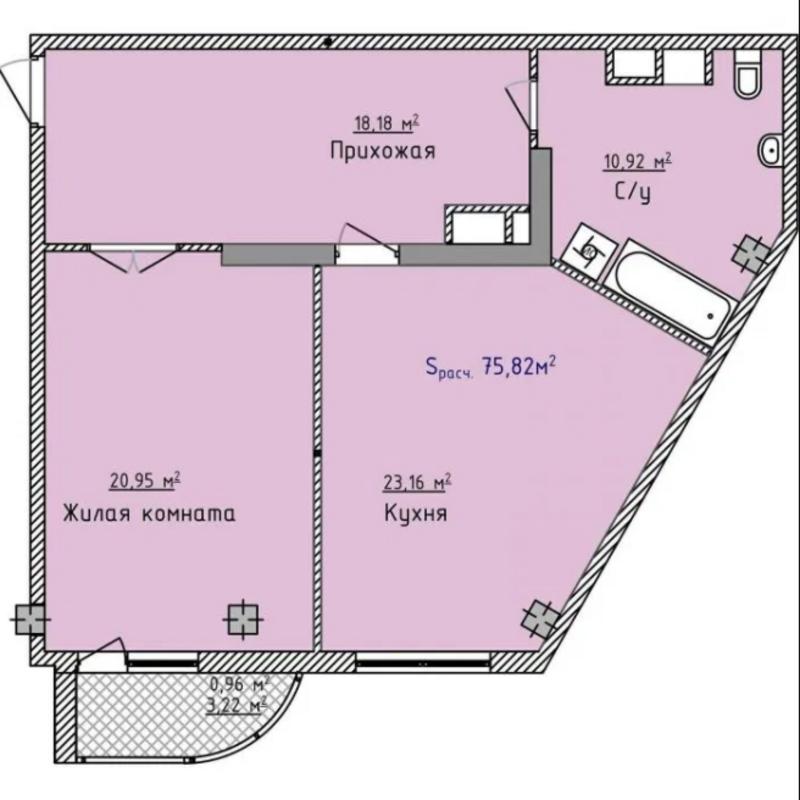 1 комнатная квартира в ЖК Аквамарин