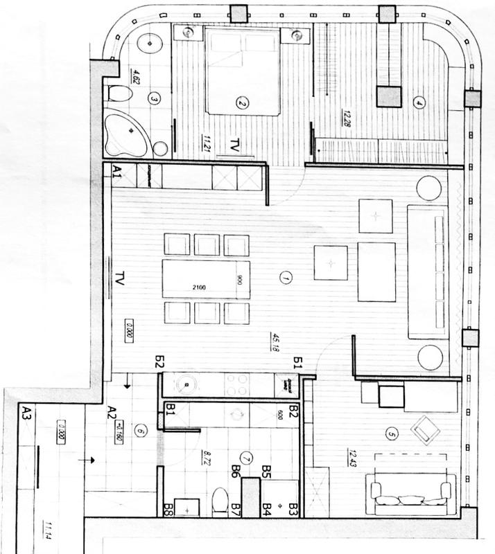 3 комнатная квартира в Гагарин Плаза/ Аркадия