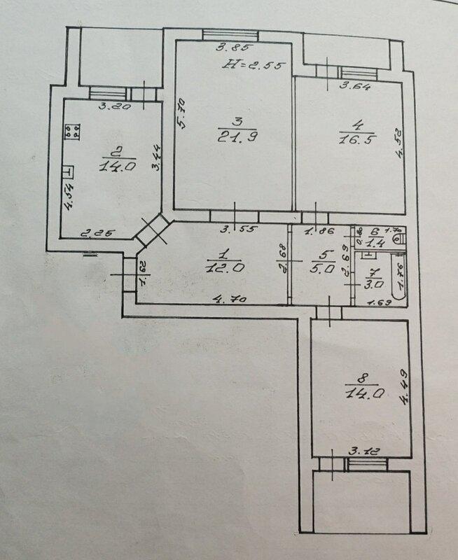 3-комнатная квартира на Комитетской