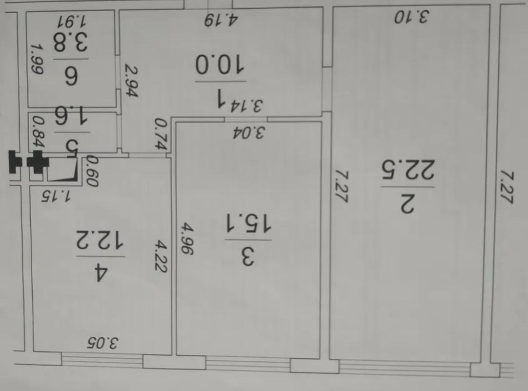 2-комнатная квартира в 49 Жемчужине