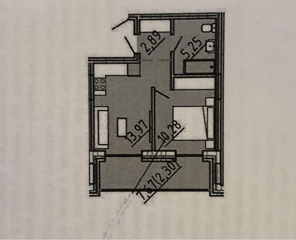 1-комнатная квартира В ЖК Пространство на Литературной
