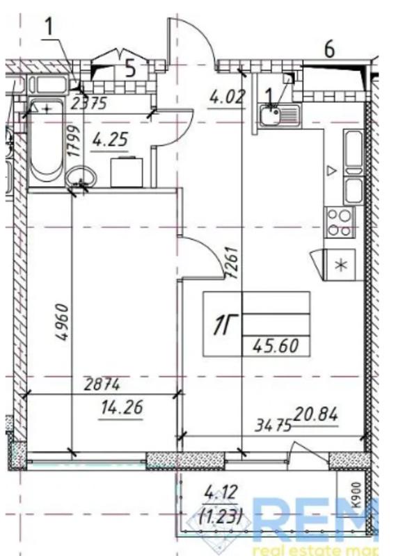 1 комнатная квартира в ЖК Манхетн на Филатова