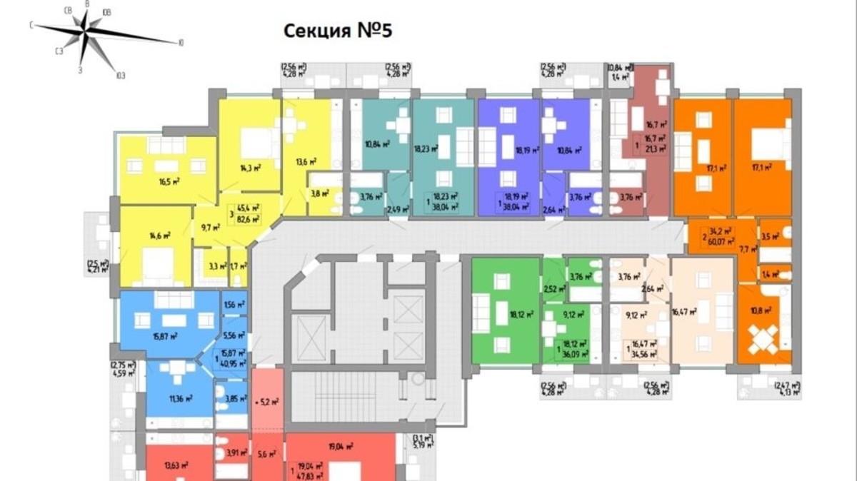 Смарт квартира с лоджией в ЖК Акварель 2