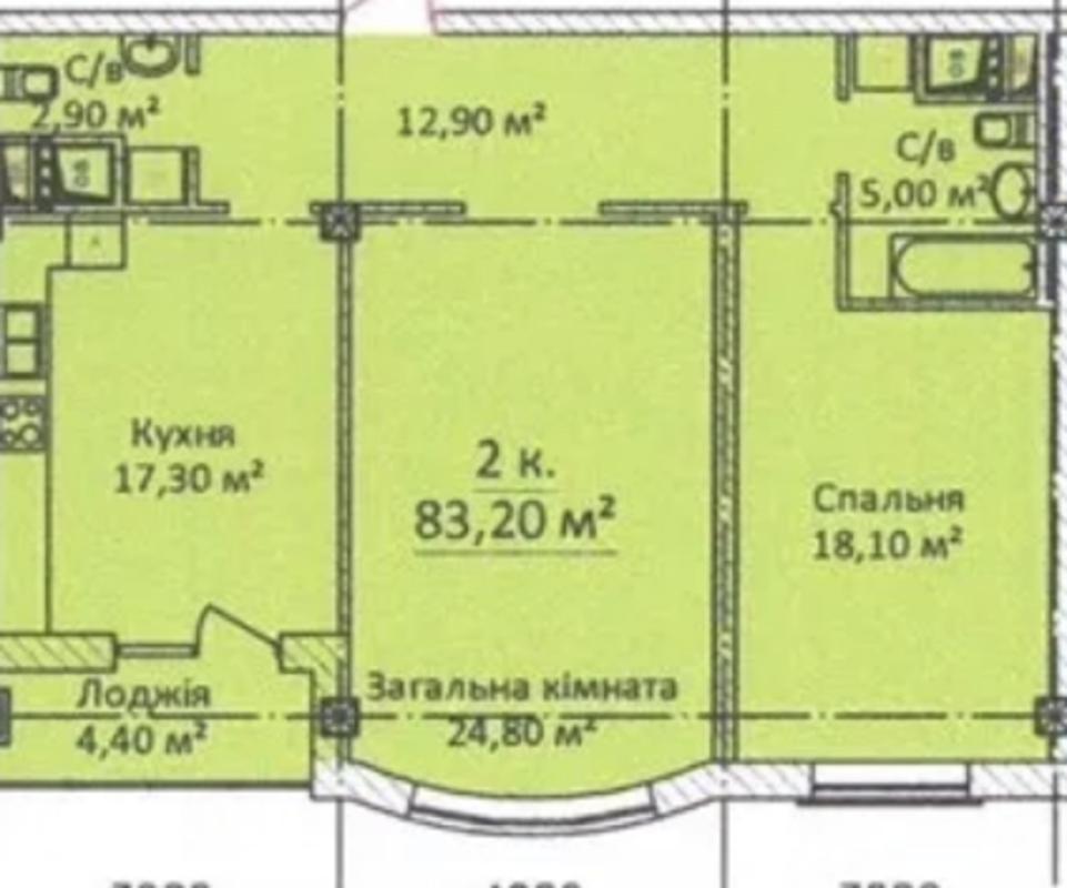 2-комнатная квартира на Еврейской