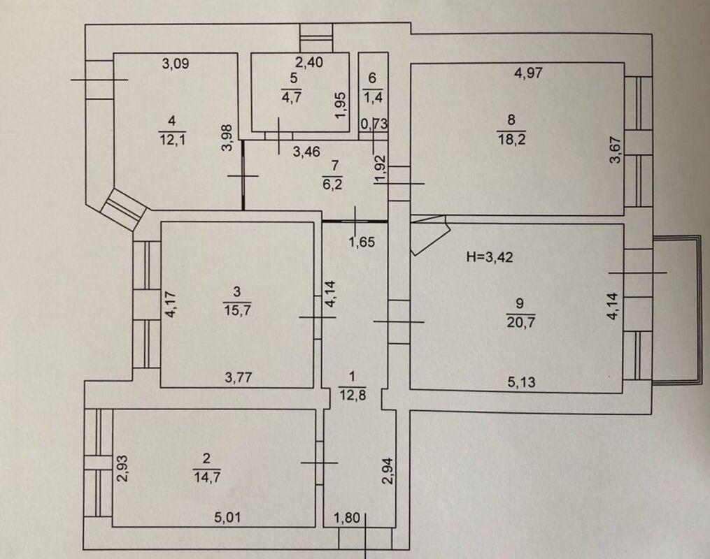 4-комнатная квартира на ул. Мастерская.