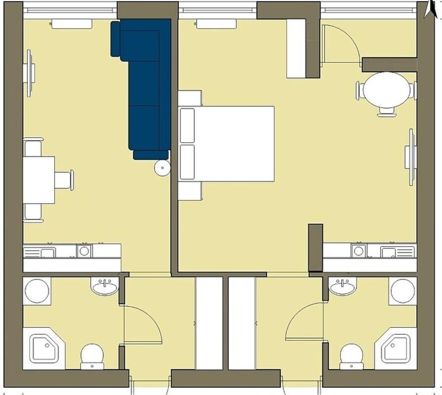 2 комнатная квартира в Клаб Марин 2