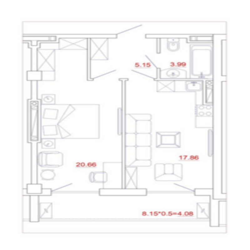 2-комнатна квартира в ЖК Миконос