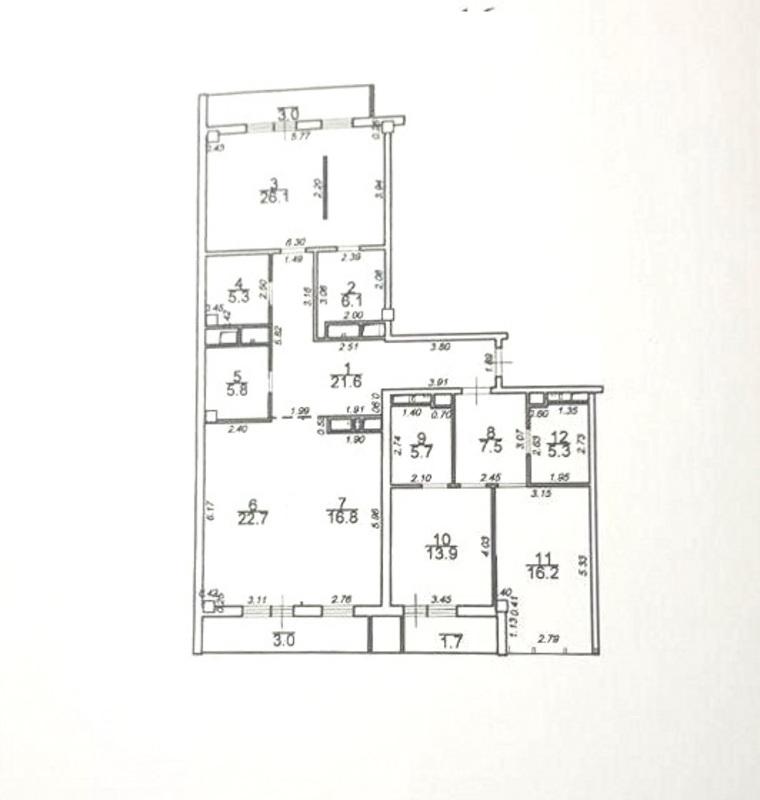 Квартира в ЖК Гринвуд, 160 м2, вид моря