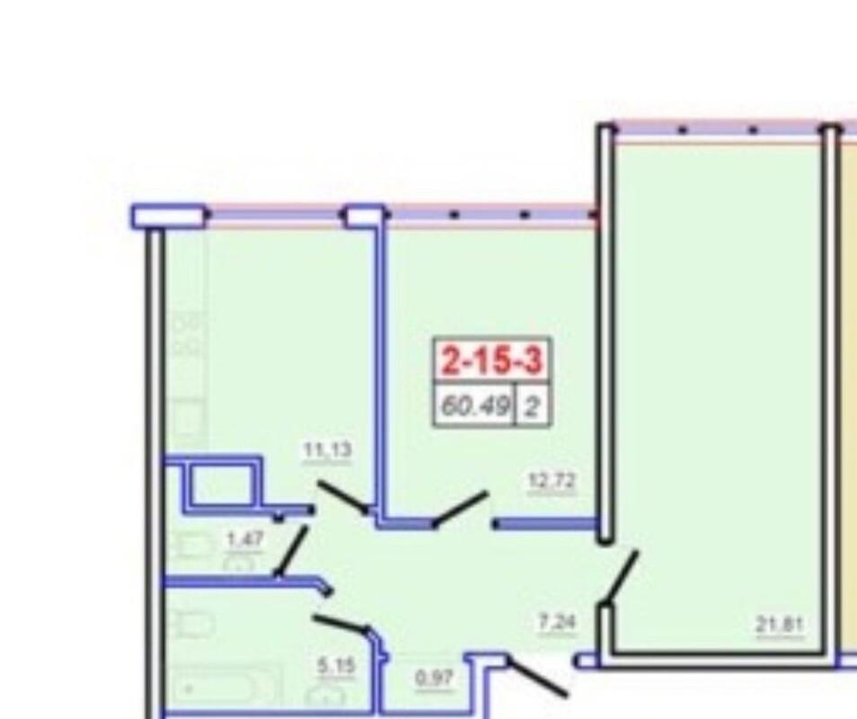 2-комнатная квартира в 53 Жемчужине