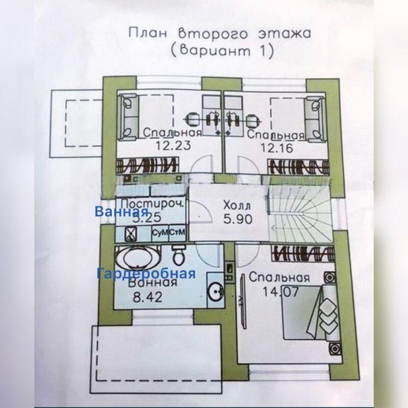 Двухэтажный дом в Киевском районе