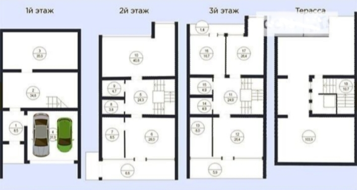 Дом с видом на море в Аркадии/ Новобереговая