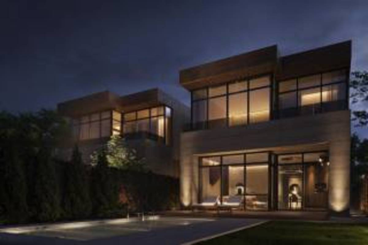 Стильный современный коттедж с панорамными окнами.